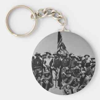 Teddy's Colts Teddy Roosevelt Rough Riders 1898 Basic Round Button Key Ring