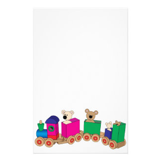 Teddy's Train Ride. Personalised Stationery