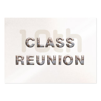 TEE 10th Class Reunion Business Card Template