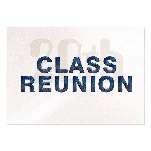 TEE 20th Class Reunion Business Card Templates