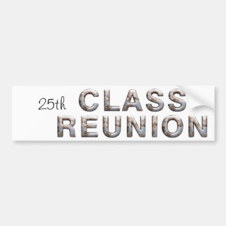 TEE 25th Class Reunion Car Bumper Sticker