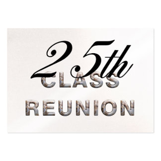 TEE 25th Class Reunion Pack Of Chubby Business Cards