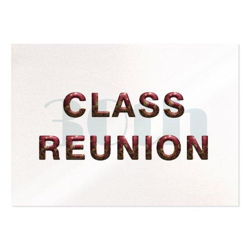 TEE 30th Class Reunion Business Cards