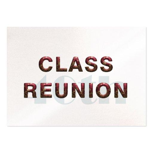 TEE 40th Classr Reunion Business Card