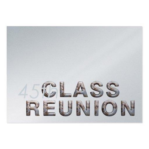 TEE 45th Class Reunion Business Card Template