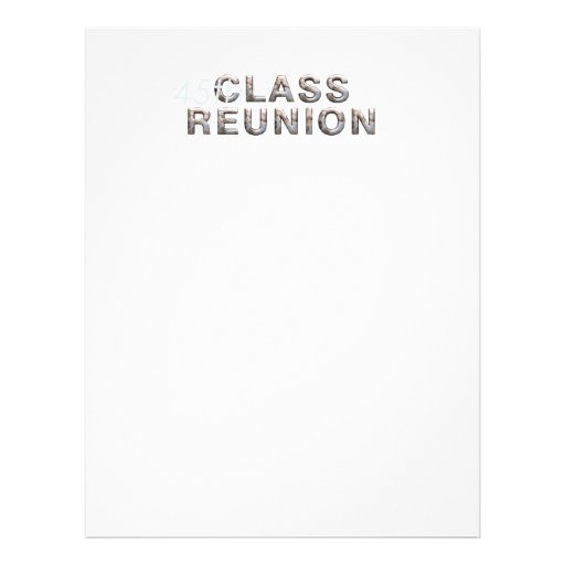 TEE 45th Class Reunion Personalized Flyer