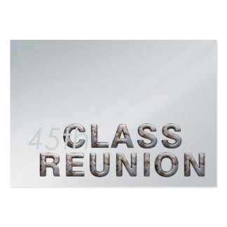 TEE 45th Class Reunion Pack Of Chubby Business Cards