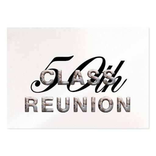 TEE 50th Class Reunion Business Card Template