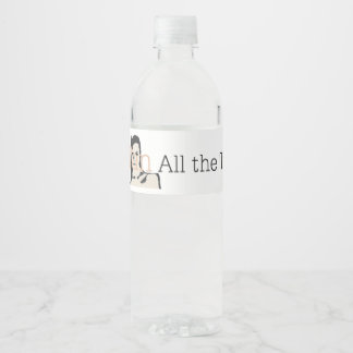 TEE All Tan All Time Water Bottle Label