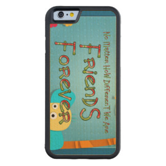 TEE Animal Friends Carved Maple iPhone 6 Bumper Case