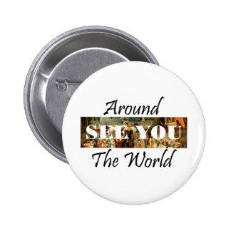 TEE Around the World 6 Cm Round Badge
