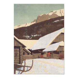 TEE Austrian Winter 13 Cm X 18 Cm Invitation Card