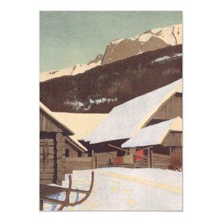 TEE Austrian Winter Magnetic Invitations