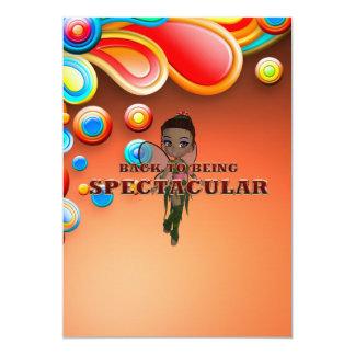 TEE Back to Spectacular 13 Cm X 18 Cm Invitation Card