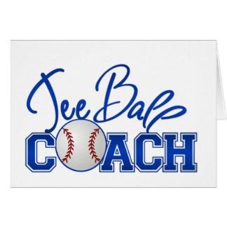 Tee Ball Coach Card