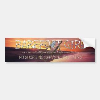 TEE Barefoot Girl Bumper Sticker