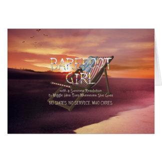 TEE Barefoot Girl Card