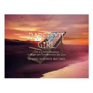 TEE Barefoot Girl Postcard