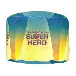 TEE Be Own Superhero Round Pouffe