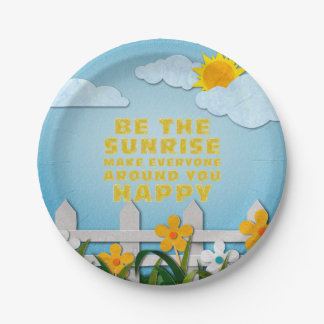TEE Be the Sunrise Paper Plate