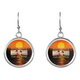 TEE Beach Girls Rule World Earrings