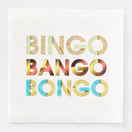 TEE Bingo Bango Bongo Disposable Napkin