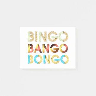TEE Bingo Bango Bongo Post-it Notes