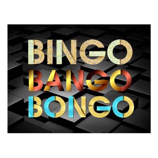 TEE Bingo Bango Bongo Postcard