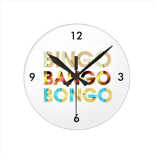 TEE Bingo Bango Bongo Round Clock