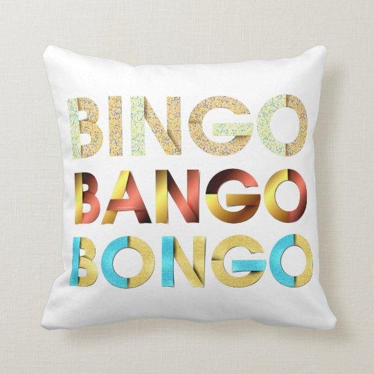 TEE Bingo Bango Bongo Throw Pillow