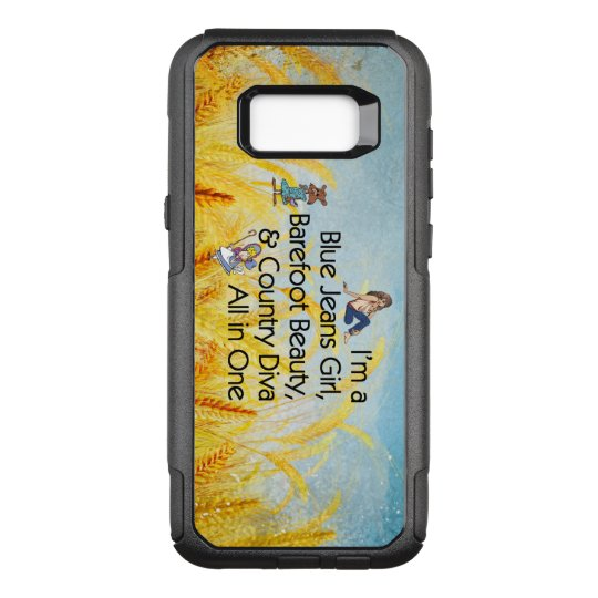 TEE Blue Jeans Girl OtterBox Commuter Samsung Galaxy S8+ Case
