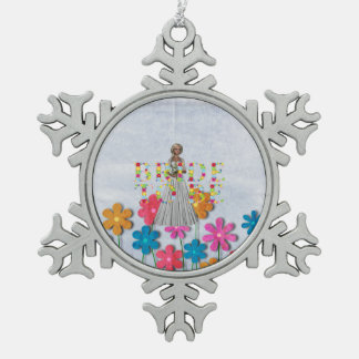 TEE Bride To Be Snowflake Pewter Christmas Ornament