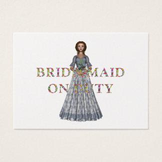 TEE Bridesmaid On Duty Business Card