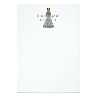 TEE Bridesmaid On Duty Card
