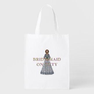 TEE Bridesmaid On Duty Reusable Grocery Bag