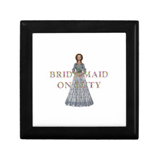 TEE Bridesmaid On Duty Small Square Gift Box