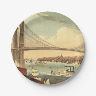 TEE Brooklyn Bridge Paper Plate