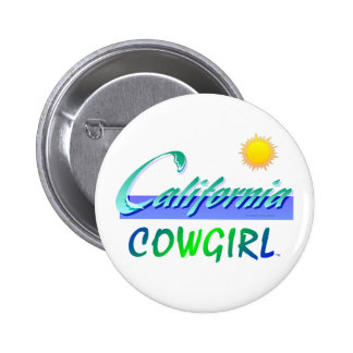 TEE California Cowgirl 6 Cm Round Badge