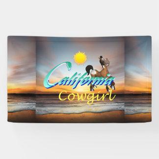 TEE California Cowgirl Banner