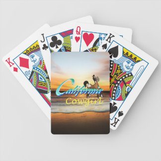 TEE California Cowgirl Bicycle Playing Cards