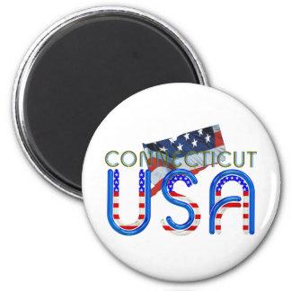 TEE Connecticut Patriot 6 Cm Round Magnet