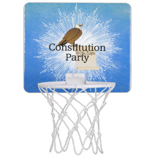 TEE Constitution Party Mini Basketball Hoop