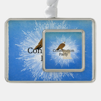 TEE Constitution Party Silver Plated Framed Ornament
