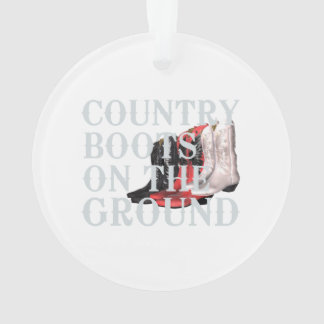 TEE Country Boots Ornament