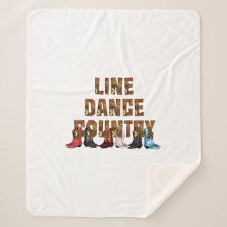 TEE Country Line Dance Sherpa Blanket