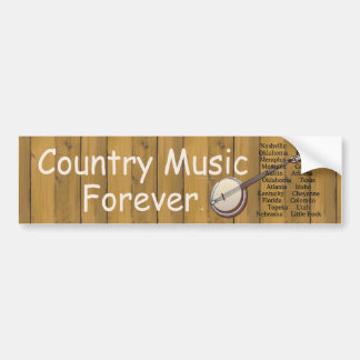 TEE Country Music Forever Bumper Sticker