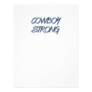 TEE Cowboy Strong 21.5 Cm X 28 Cm Flyer