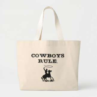 TEE Cowboys Rule Large Tote Bag