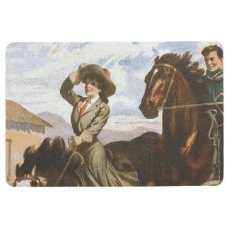 TEE Cowgirl OS Floor Mat