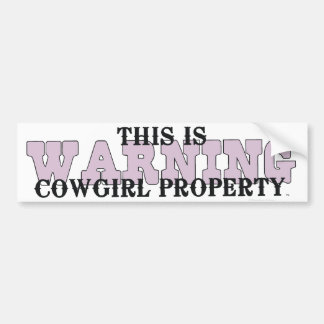TEE Cowgirl Property Bumper Sticker
